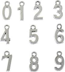 100pcs Antique Silver Plated 0-9 Figures Numbers ... - Amazon.com