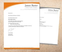 bold serious letterhead design for james baxter by danny bold serious letterhead design for company in design 2003869