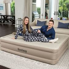 <b>Bestway Queen Comfort Elevated</b> Airbed with Built-In Pump   Air bed ...