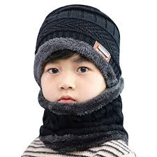 Buy Rosatro Fleece Contrast Colors Knitted Warm <b>Winter</b> Hats for ...