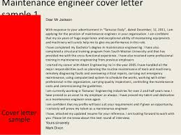 maintenance engineer cover letter   maintenance engineer cover letter