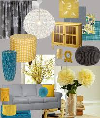 yellow decor open plan my living room design board yellow teal and grey