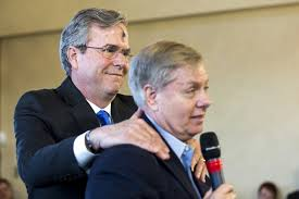 Image result for jeb lindsey graham anyone but trump pics