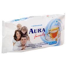 <b>Влажные салфетки Aura</b> освежающие, 63 шт | Магнит Косметик