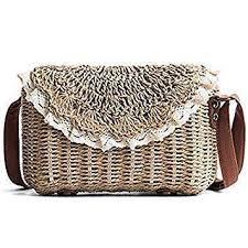 Buy Handmade Rattan <b>Woven</b> Lady's <b>Handbag Straw</b> Knit Summer ...