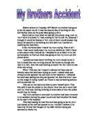 touching the void essay joes account emphasizes how physically  my brothers accident