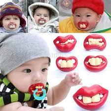 <b>1PCS BABY FUNNY</b> Dummy Prank Pacifier Novelty Teeth Children ...