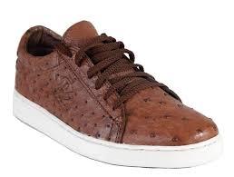 Diomande Men's <b>Genuine</b> Ostrich <b>Leather Sneakers</b> — itarazen