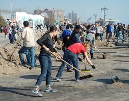 teamwork fuzion blog volunteers in brooklyn after hurricane