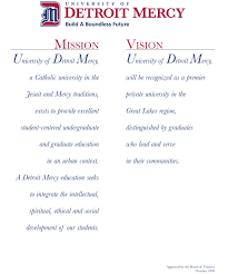 mission vision university of detroit mercy mission and vision statement