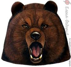 "Шапка для бани ""Медведь бурый"" – заказать на Ярмарке ..."