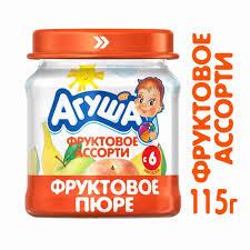 <b>Пюре Агуша фруктовое</b> ассорти с 6мес 115г ст/б - купить с ...