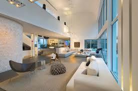 interior of modern mansion in miami amazing lighting