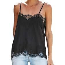 TnaIolral <b>HOT</b>! <b>Women</b> Lace Top Strappy Vest <b>Sleeveless</b> ...
