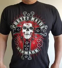 Skull on Cross T-shirt – PRETTY MAIDS – Official ... - Pretty Maids