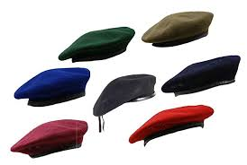 RTC <b>British</b> Army <b>Style</b> Wool <b>Mens</b> Beret Hat Cap <b>Leather</b> Band ...
