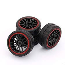 Buy Yosoo Huhushop <b>RC</b> Racing <b>Rubber Tires</b> Fit HSP HPI 9068 ...