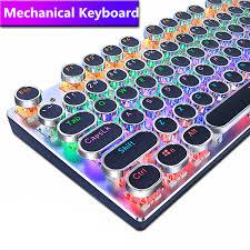 <b>METOO ZERO</b> Round Keycap <b>Gaming Mechanical Keyboard</b> Blue ...