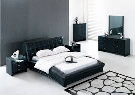 attractive slate tone pattern rug combined with white venetian window blind and modern bedroom sets black white bedroom furniture