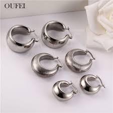 2019 <b>OUFEI</b> Druzy <b>Earrings</b> For <b>Women</b> Stainless Steel Jewelry ...