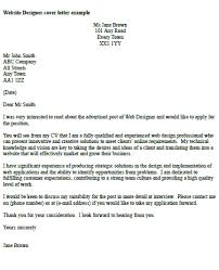 web designer cover letter example cover letter website