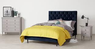 Skye King Size Bed, <b>Royal Blue</b> Velvet | <b>MADE</b>.com