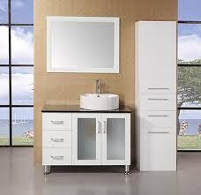 element contemporary bathroom vanity set: design element malibu single  inch white modern bathroom vanity set