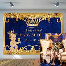 <b>Mehofoto</b> Blue <b>Baby Shower Backdrop</b> Yellow Curtain Photo ...