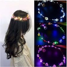 <b>1pc Fashion</b> NEW Glowing Garland Rattan Headband Flower Led ...