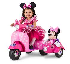 <b>Disney Minnie Mouse</b> Happy Helpers Scooter with Sidecar Ride-On ...