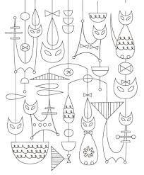 coloring book mid century modern add midcentury modern style