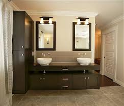 awesome double vanity sinks or black wooden cabinets design feat modern bathroom mirrors below lighting idea bathroom mirror and lighting ideas