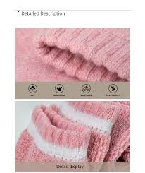<b>1 Pair Winter</b> Warm Socks For <b>Men</b> Women Solid Color Thick Wool ...
