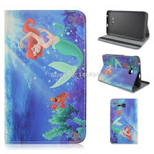Little Mermaid Ariel <b>PU Leather</b> Flip Stand <b>Tablet Cover Case</b> For ...