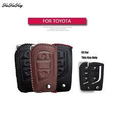 <b>KUKAKEY Genuine Leather</b> Remote Keyless <b>Car</b> Key Case Cover ...