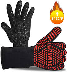Premium BBQ Gloves, 1472°F Extreme <b>Heat Resistant</b> Oven Gloves