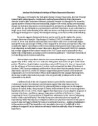 essay on depression disorder    introduction to depression and    free depression essays and papers    helpme com  middot  introduction to depression and bipolar disorder   depression and