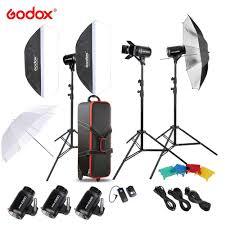 Original <b>Godox E300</b> D Photo Studio Speedlite Lighting Kit with ...