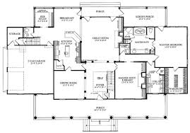 House Plan at FamilyHomePlans comColonial Country Farmhouse Plantation House Plan Level One