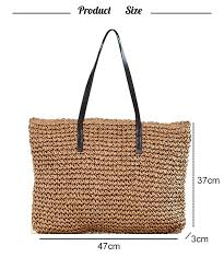 Women Handbag <b>Summer Beach Bag</b> Rattan Woven Handmade ...