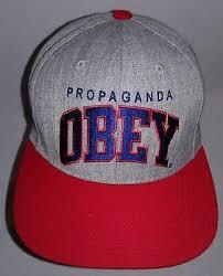 <b>Шапка OBEY</b> пропаганды серый с красным козырьком бейсболка ...