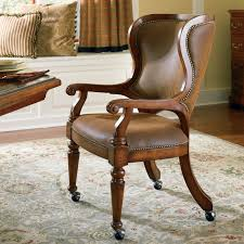 Dining Room Chairs With Casters And Arms Hooker Furniture Waverly Place Tall Wing Back Upholstered Caster