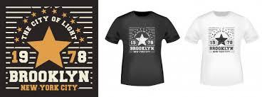 Brooklyn <b>star футболка с принтом</b> | Премиум векторы