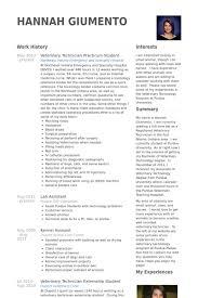 veterinary technician practicum student resume samples veterinary technician resume examples