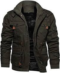 TIFENNY <b>Men's</b> Winter Cashmere <b>Thickened</b> Pocket <b>Cotton Coat</b> ...