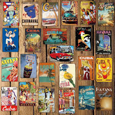 <b>Mike86</b> CUBA HAVANA Metal Sign Room Decor Vintage Wall ...