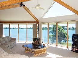 Modern  amp  Contemporary Home Designs by Topsider Homes   Topsider    Contemporary Homes Interior Window Design Panoramic View Lakehouse