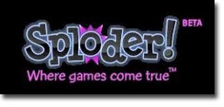 شعار: موقع لتصميم الألعاب أونلاين (Sploder!).