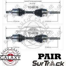 pair cv joint axle shaft assemblies fits toyota land cruiser lexus main image