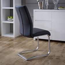 faux leather dining chair black:  wg black back